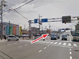 昭和通り・北中島交差点からのアクセス01