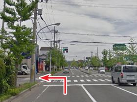 昭和通り・北中島交差点からのアクセス02